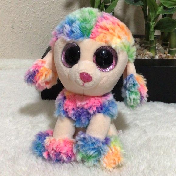 3/$10 Ty Beanie Boo Rainbow Dog